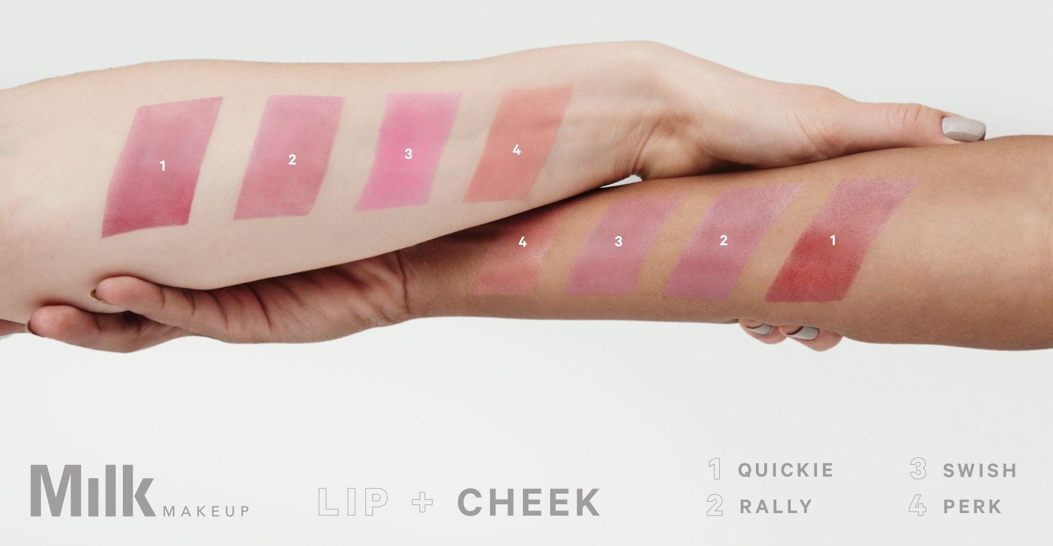 Milk Makeup lip+cheek duo My favorite is QUICKIE it looks