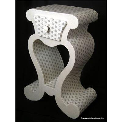 Chevet en carton Hemma - Décoration peinture et papier Ivoire à - Peindre Table De Chevet