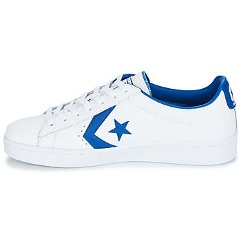 Converse PL 76 FOUNDATIONAL LEATHER WITH ELEVATED DETAILING OX Blanc / Bleu O47orq