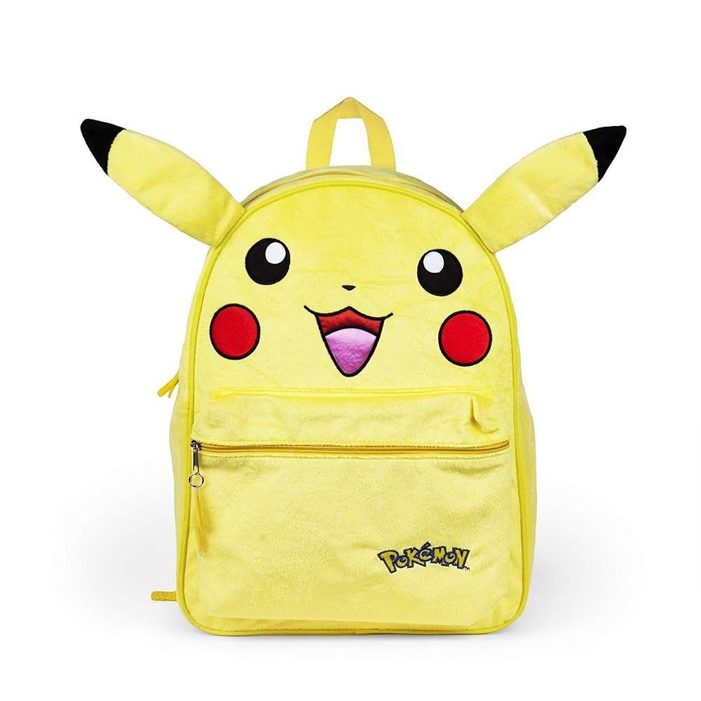 "18/"" Pokemon Pikachu Large Plush School Backpack Bag"