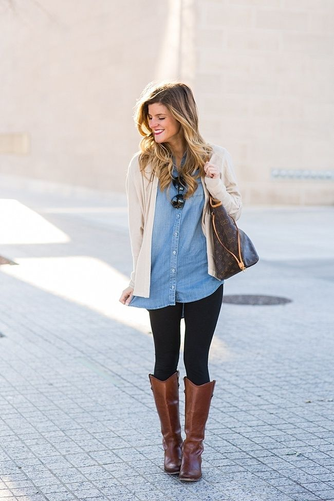 How To Wear a Denim Shirt // 13  Ways to Style Chambray | An ...