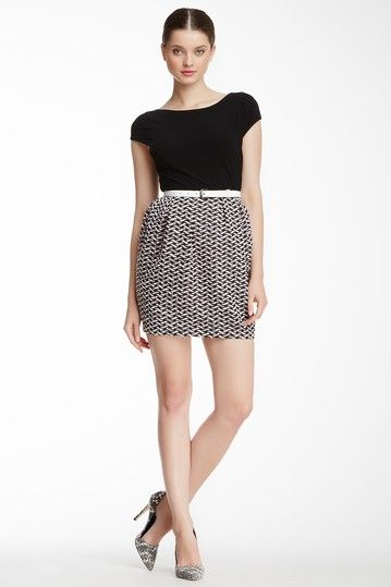 alice & olivia Greta Belted Full Skirt Dress by alice + olivia- sold out in my size :(