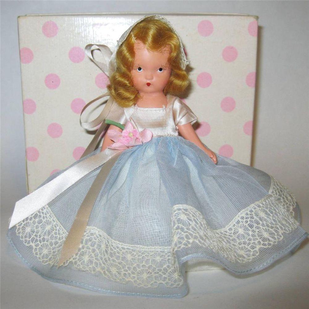 """Nancy Ann Storybook BISQUE Doll #87 """"Bridesmaid"""" w/Org Box 5.5"""" EXCEL #NancyAnnStoryBook"""