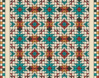 Southwest Quilt Pattern Navajo Inspired / Indian by QuiltPatterns ... : native american quilt block patterns - Adamdwight.com