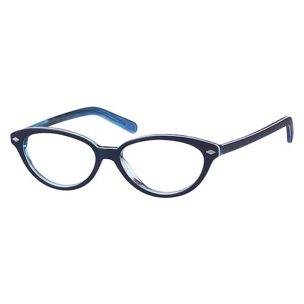 6bcc3f3a323 Zenni Womens Vintage Cat-Eye Prescription Eyeglasses Blue Tortoiseshell  Plastic 102016