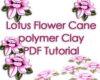 Polymer Clay Tutorial - The Lotus Flower cane PDF Tutorial
