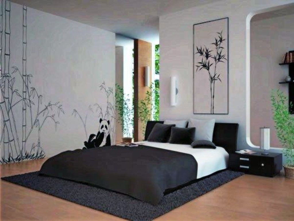 Bedroom designs for girls black - Teen Room Black And White Bedroom Design Ideas With Black And White Bed And Pillow With Small Table Lamp On The Small Chest Of Drawer Wood Floor With Black