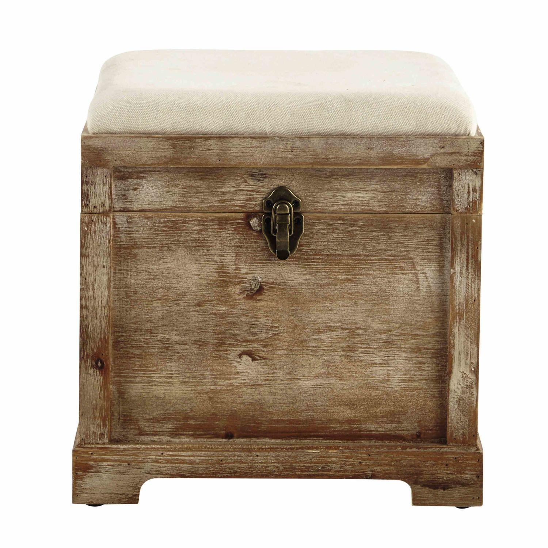 Coffre Banc En Bois L 39 Cm Maisons Du Monde Wooden Chest Storage Ottoman Bench Wood Chest