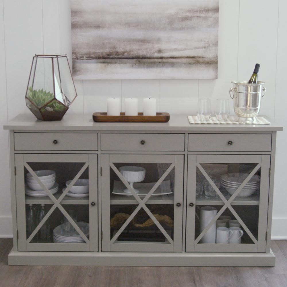 Home Decorators Collection Hampton Grey Buffet In 2019 Our New