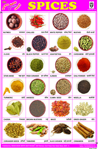 Spices  Spice Chart, Vegetable Chart, Chart School-3601