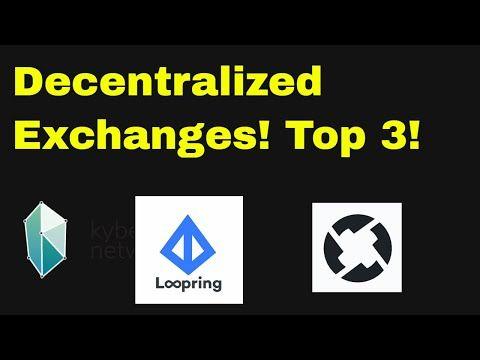 Best decentralized cryptocurrency exchanges