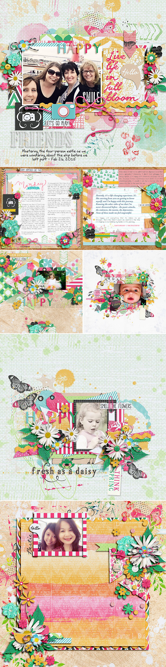 CT INSPIRATION using Fresh As A Daisy by Studio Basic and Two Tiny Turles