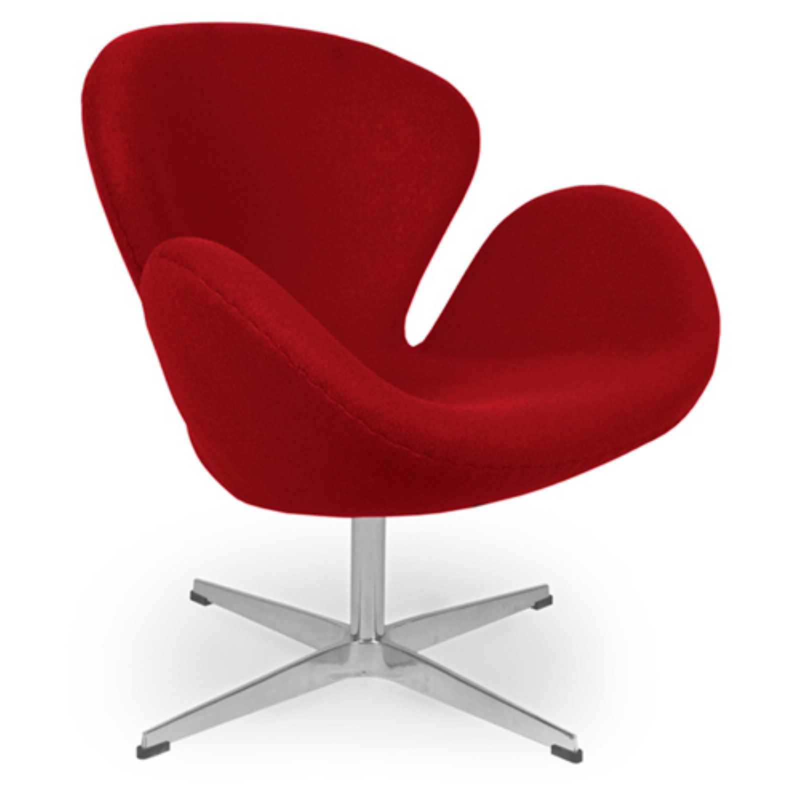 Egg Chair Accent Chairs.Kardiel Trumpeter Swivel Egg Accent Chair Red Products In 2019