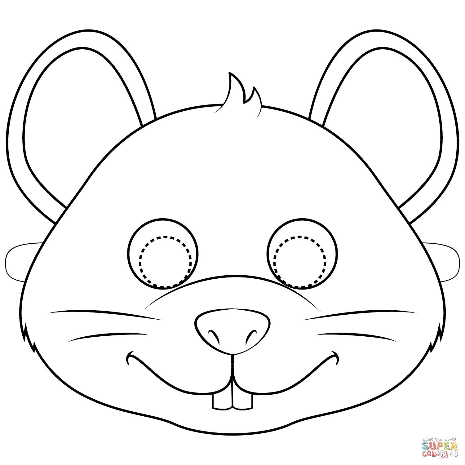 Mouse Mask Coloring Page Free Printable Coloring Pages Mouse Mask Coloring Pages Animal Mask Templates