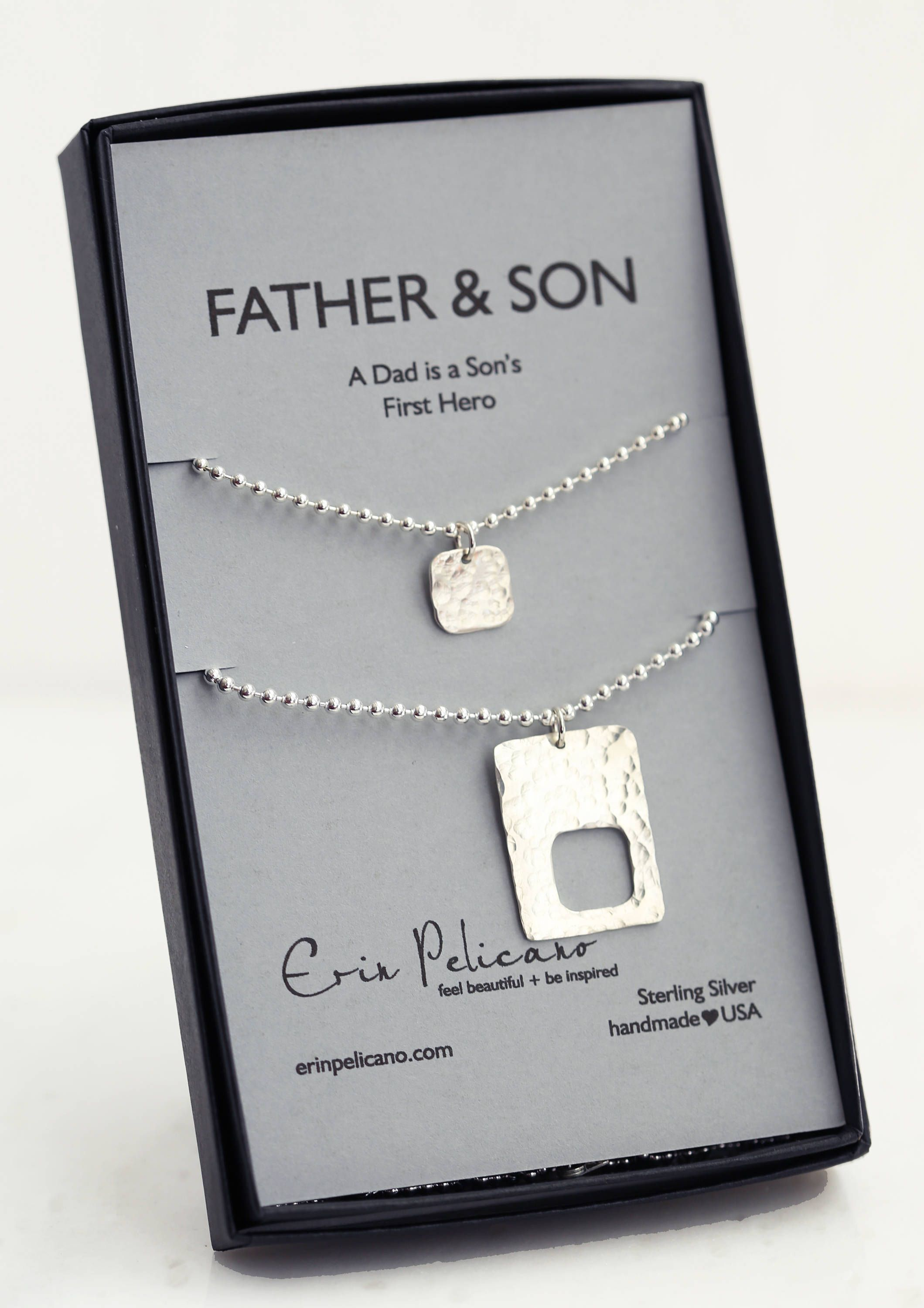 Fathers Day Gift For Dad Father Son Dog Tag Jewelry Personalized