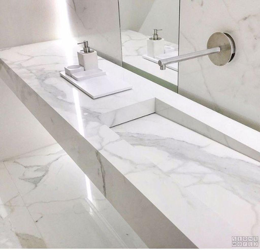 37 Stylish Design Pictures: 37 Stylish Sinkless Bathroom Vanity Design Ideas