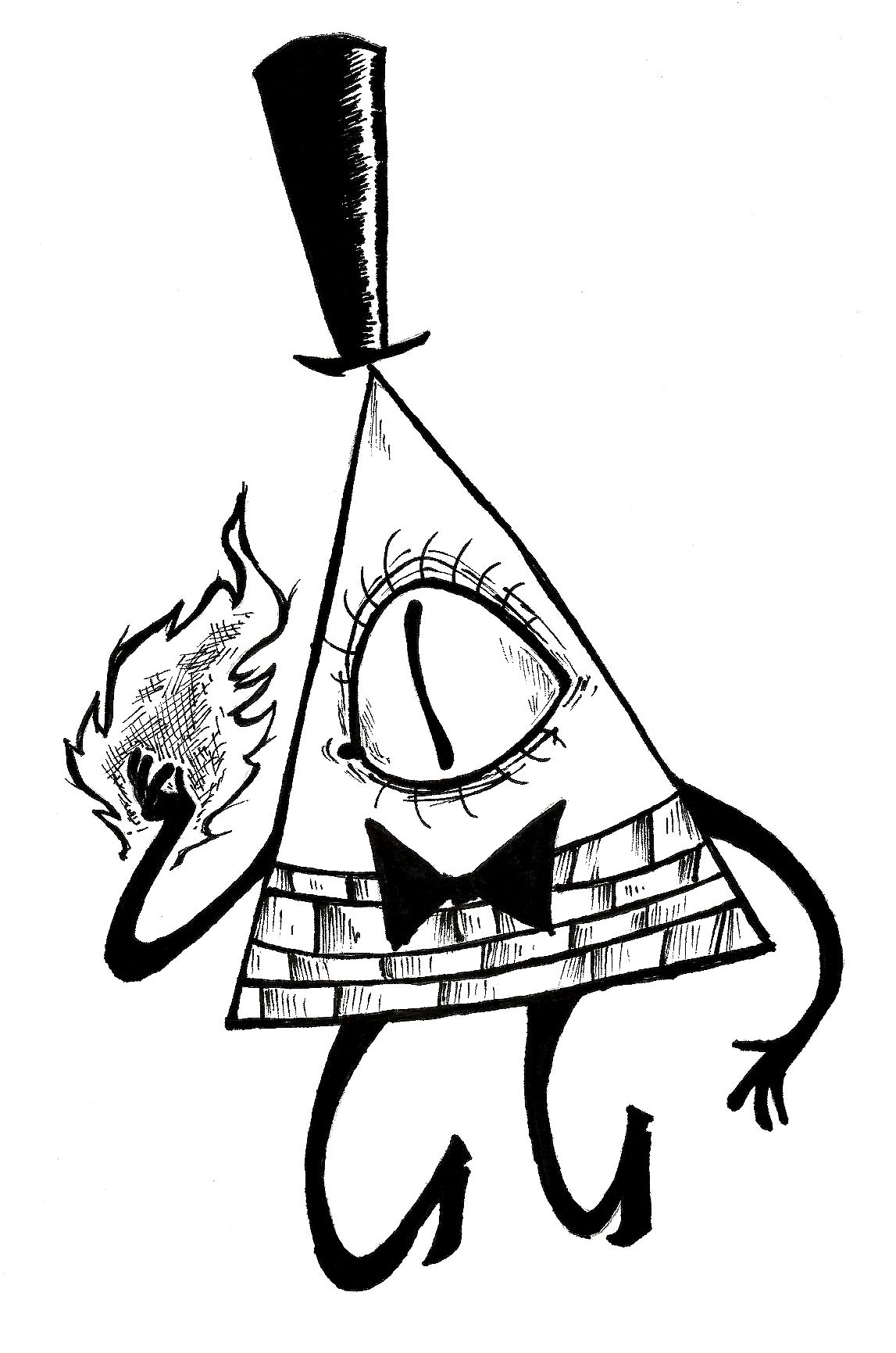 Bill cipher coloring pages ~ Bill Cipher Pages Coloring Pages