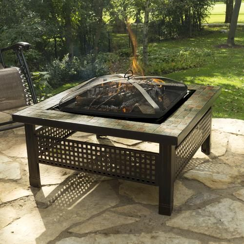 Backyard Creations Sienna 34 Slate Top Fire Pit At Menards Backyard Creations Fire Pit Backyard