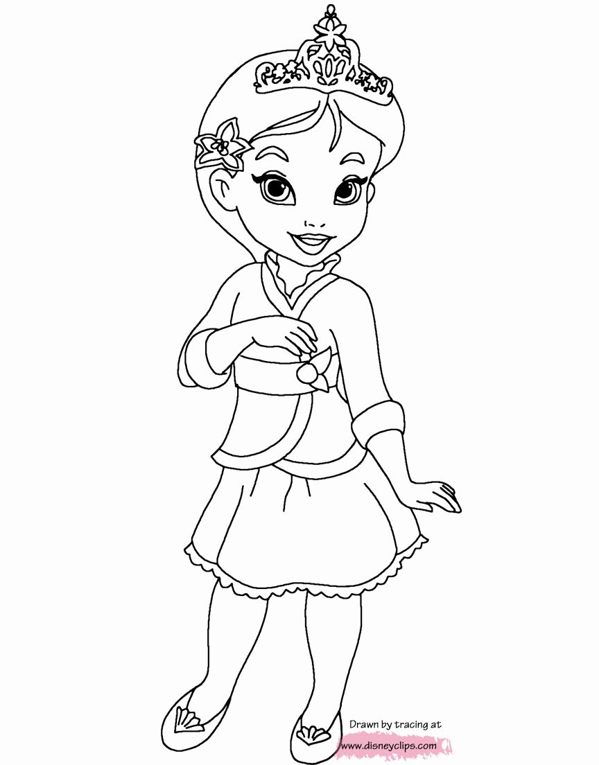 Baby Princess Coloring Pages : princess, coloring, pages, Coloring, Pages, Disney, Princesses, Elegant, Princess, Belle, Pages,, Mermaid, Colors