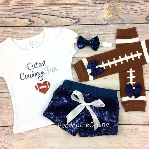 save off 99160 53b78 Dallas Cowboys Toddler Girl Cheerleader Game Day Outfit ...