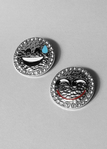 Silver Emoji Brooch