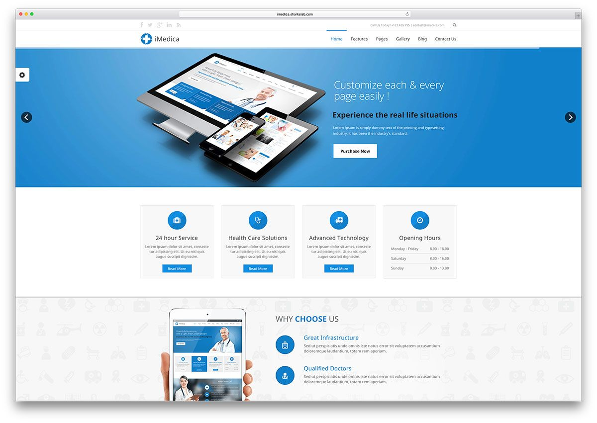 Website Templates Imedicaclassichtml5Websitetemplate  Websites Referances