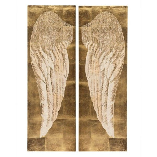 Angel's Wing Panel - Set of 2 ($329) ❤ liked on Polyvore featuring home and home decor