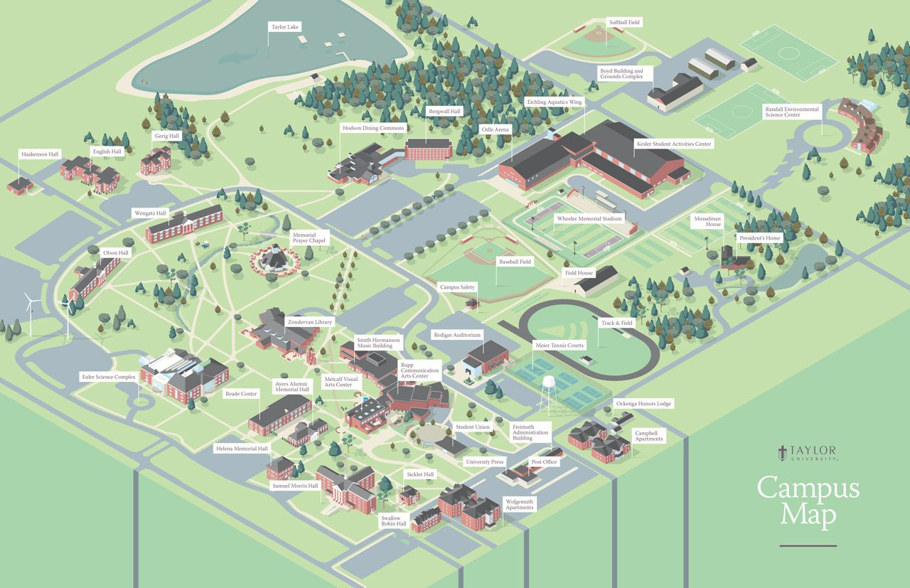 Tu Campus Map Luke Shuman Design Videogame Aesthetics Map