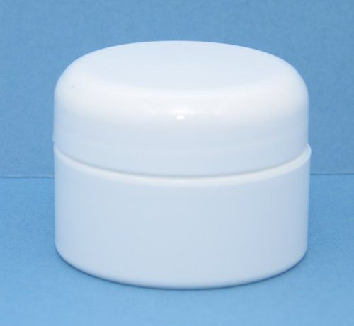 1 2 Oz Plastic Double Wall Straight Base White Jar With White Dome Lid 12 By Gps 17 94 48 400 White Domed Lid W F217 Liner Neck White Jar Jar Beauty Bag