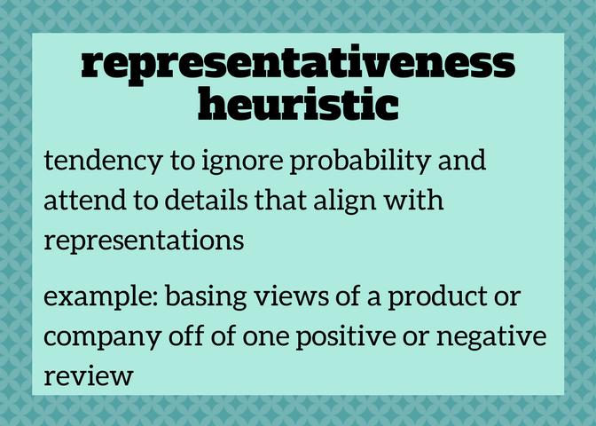 Representativeness Heuristic Keyterms Cognitive Psychology Psychology Negativity