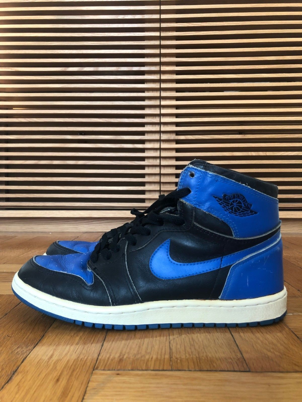 d319eadbf11b Details about 1985 Original Nike Air Jordan I 1 Black Royal Blue OG ...