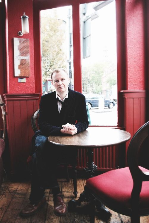 Mark Gatiss looking so innocent - no doubt plotting to take over the world as usual.