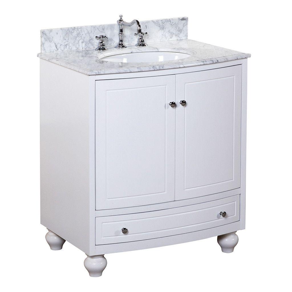 Palazzo 60-Inch Double Bathroom Vanity palazzo 30-inch vanity (carrara/white) | 30 inch vanity, carrara