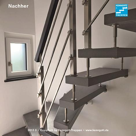 Kenngott Treppen freitragende kenngott treppe 1 4 gewendelt terzo stufenmaterial