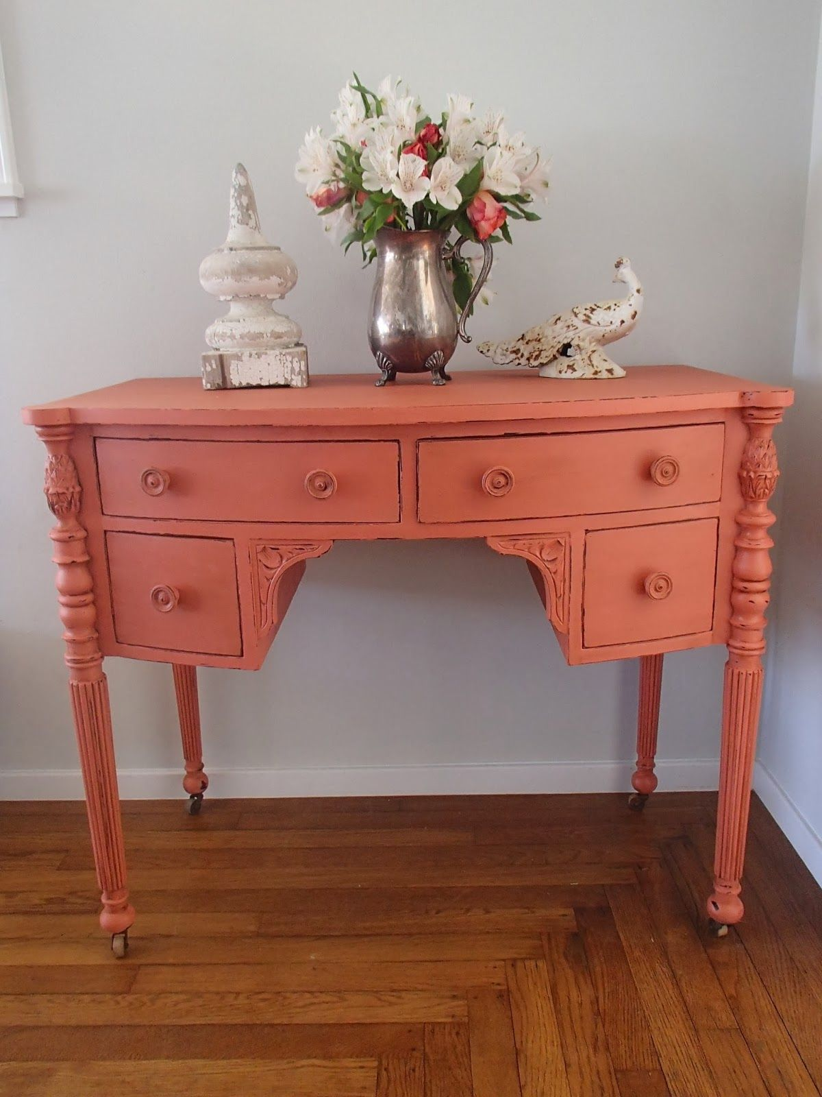 D.D.'s Cottage and Design: Gypsy Coral Desk (Apron Strings)