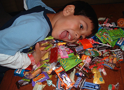 Image result for giving children too much candies