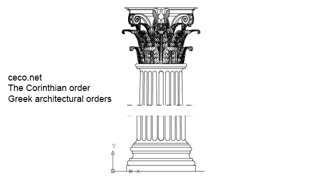 Greek Architecture Drawing corinthian order - ancient greek architectural orders , in front