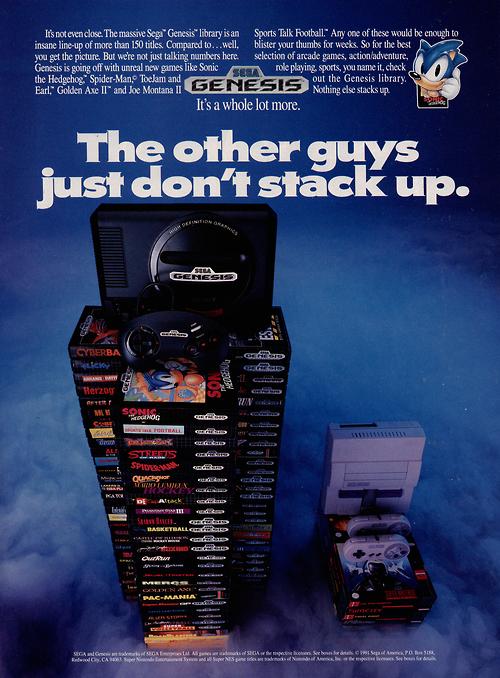 1991 Sega Genesis ad Retro video games