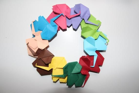 Photo of Origami Elephants  / Colorful Paper Elephants /(Set of 10 )