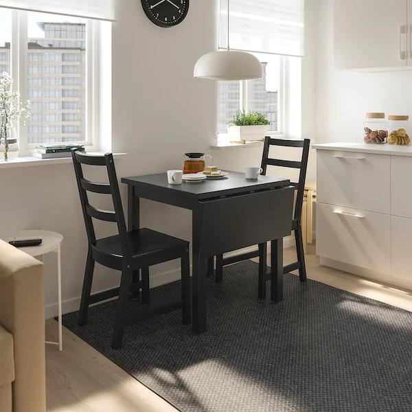 IKEA NORDVIKEN Black Dropleaf table in 2020 Drop leaf