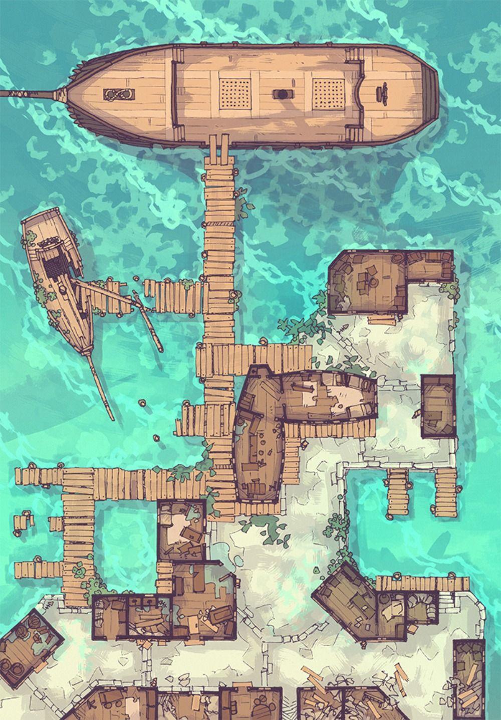 Dnd Dock Map : Battle