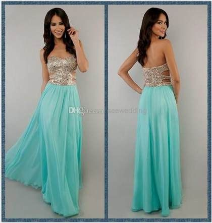 Nice turquoise and gold prom dresses 2018-2019 Check more at http ...