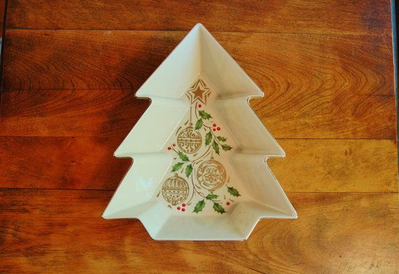 Lenox China Dazzle Tree Holiday Serving by CobblestonesVintage