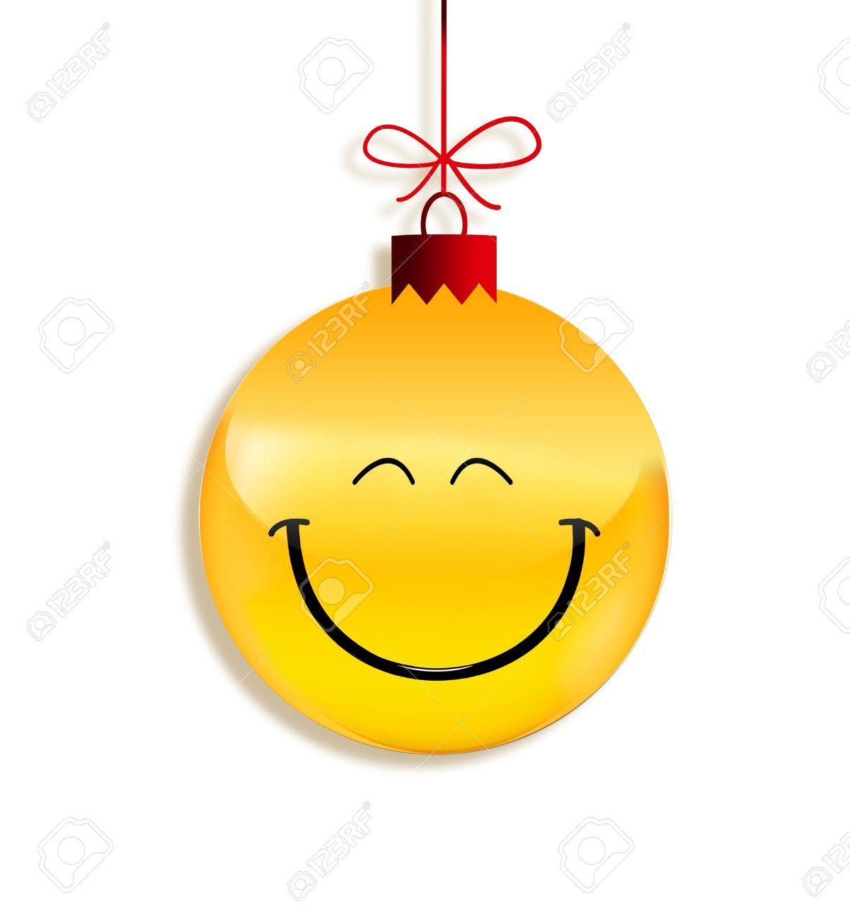 Christmas smiley faces paper emoticon as christmas ball emoji christmas smiley faces paper emoticon as christmas ball biocorpaavc Images