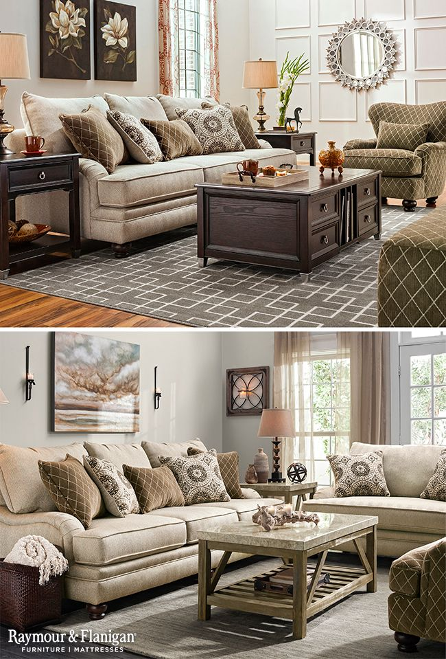 A Neutral Sofa Collection Like The Claudella Is The Perfect Way To Bring A Bit Of A Traditiona Latest Living Room Designs Neutral Sofa Master Bedroom Furniture #raymour #and #flanigan #living #room #chairs