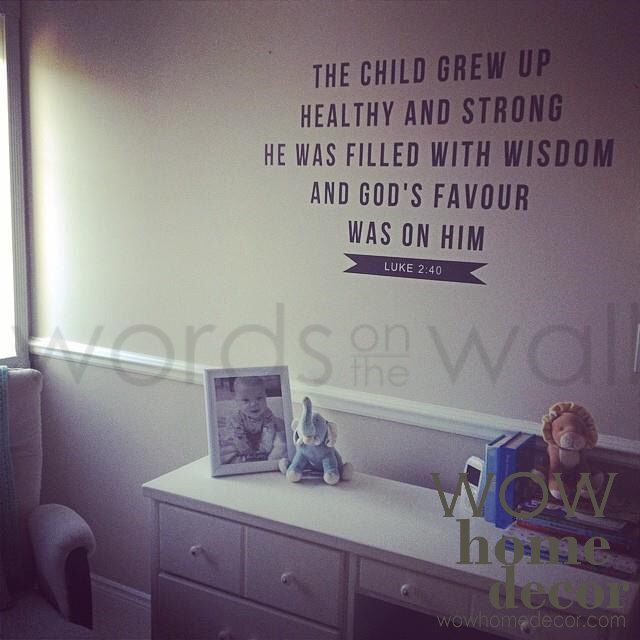 Vinyl Wall Decal Bible Verse For Baby Nursery Luke - Vinyl wall decals bible verses