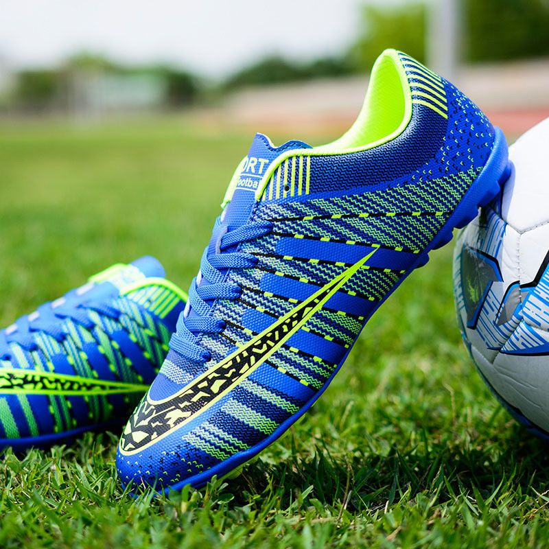 Mens soccer cleat football sneakers trained breathable