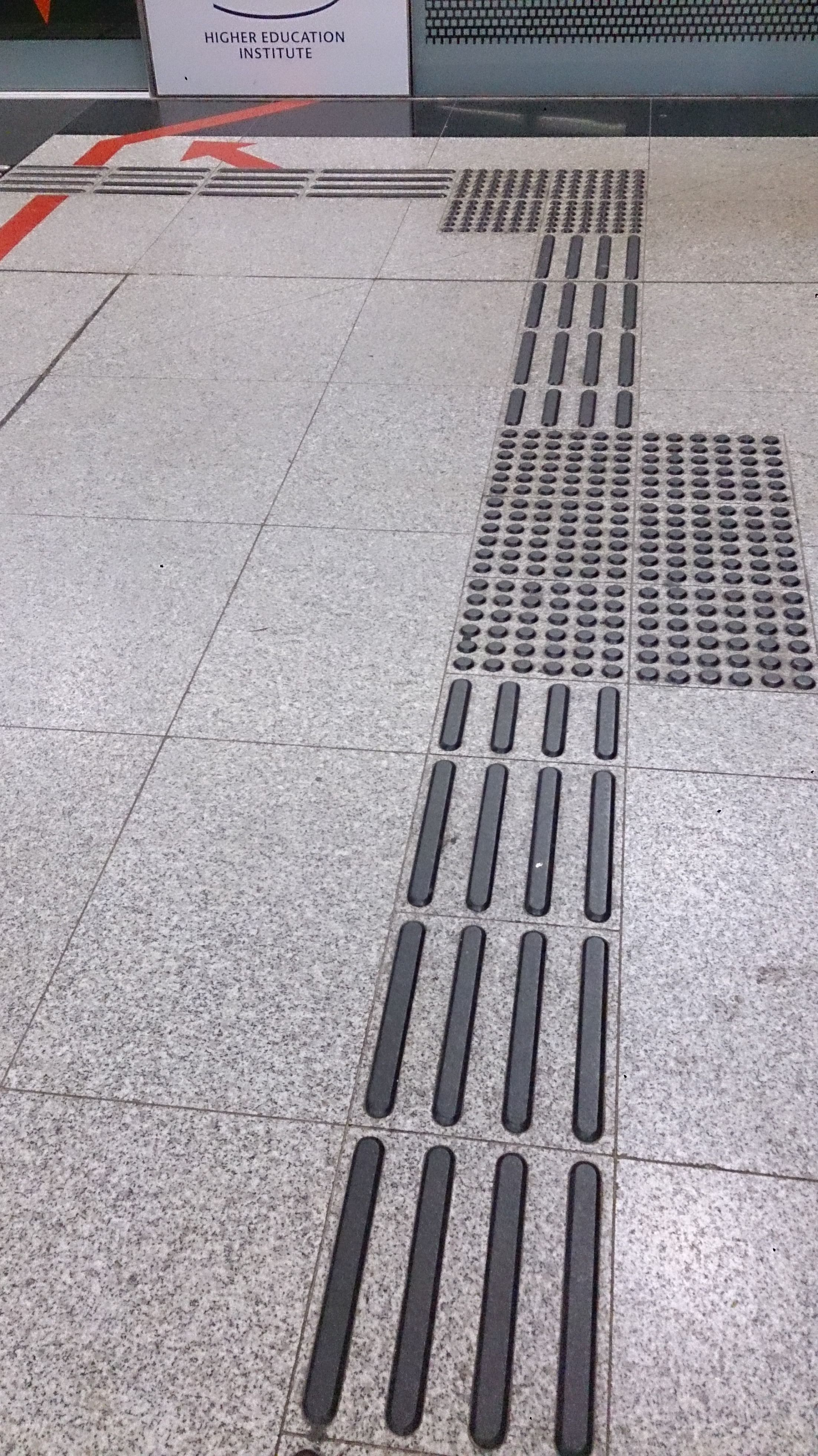 Tactile Paving In A Mass Rapid Transit Station In Singapore 20131105 Tactile Paving Blinds Design Living Room Carpet