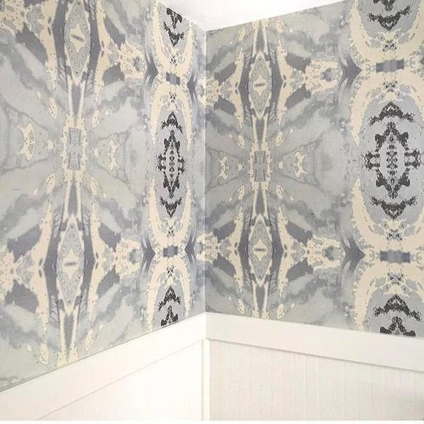 125-5 Grey Ivory A Grasscloth Wallcovering