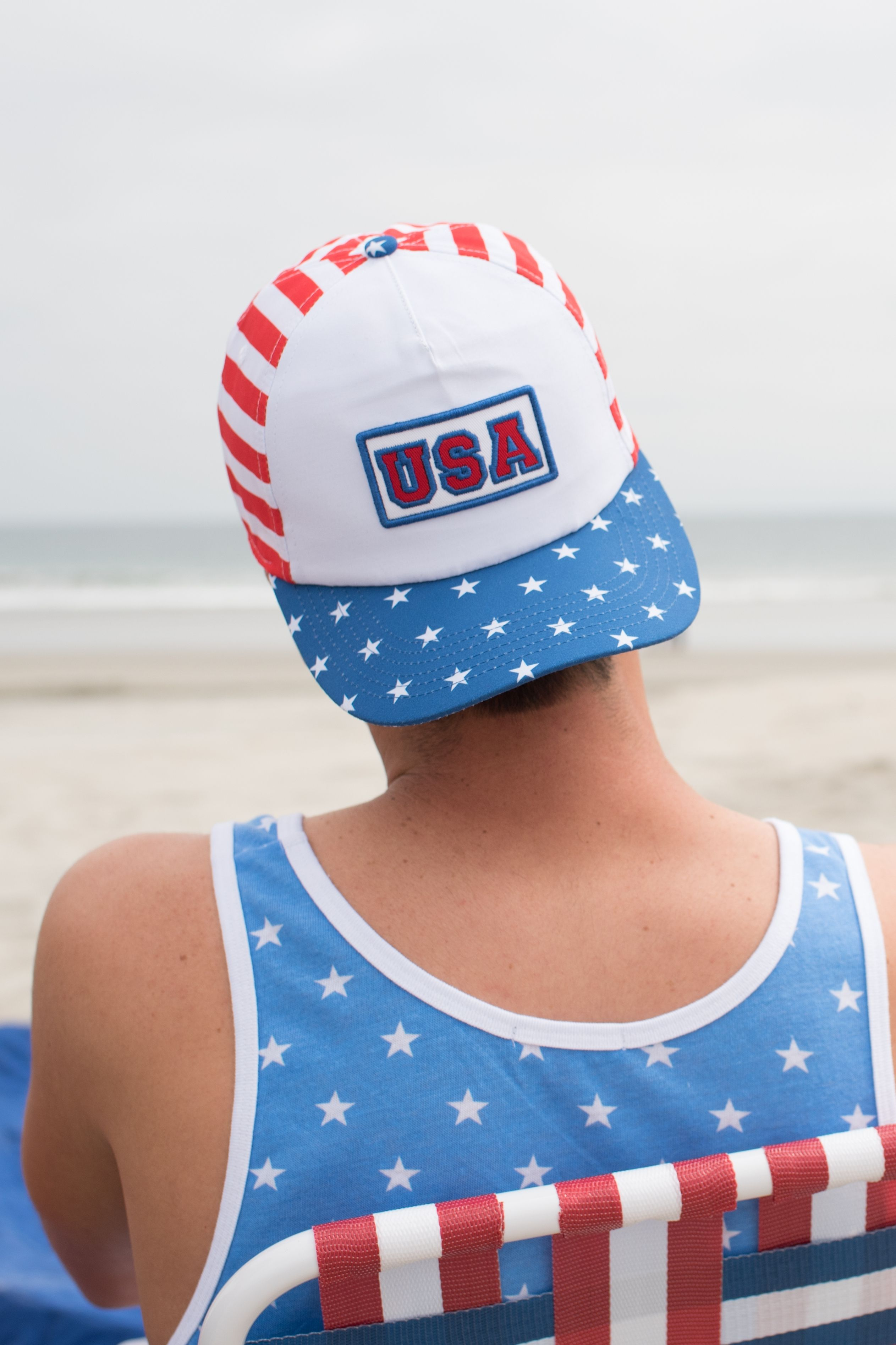 White USA Hat  7d454cca5dc